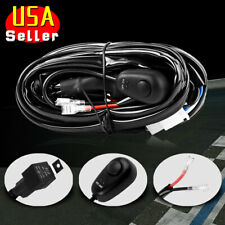 Wiring Harness Kit 8ft 12V 40A Relay Fuse Switch ON-OFF For LED Work Light Bar