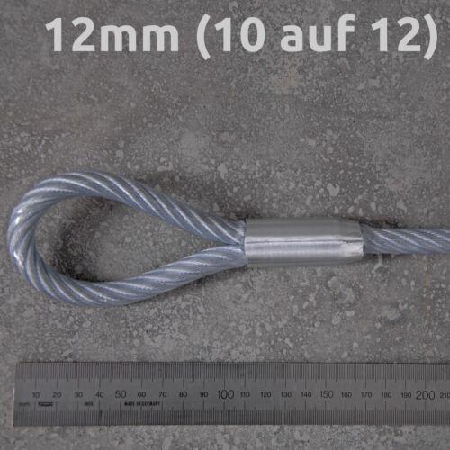 Sicherungskabel Schlaufenkabel Drahtseil ummantelt 1m 2m 3m 4m 5m 8m 10m 20m
