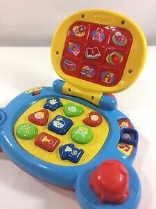 Vtech Baby Learning Laptop Teaching Songs Shapes Lights Music