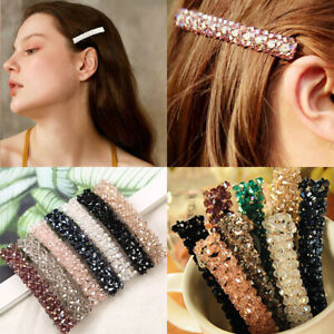 Women-039-s-Girls-Bling-Crystal-Hair-Clips-Barrette-Hairpin-Wedding-Hair-Accessories