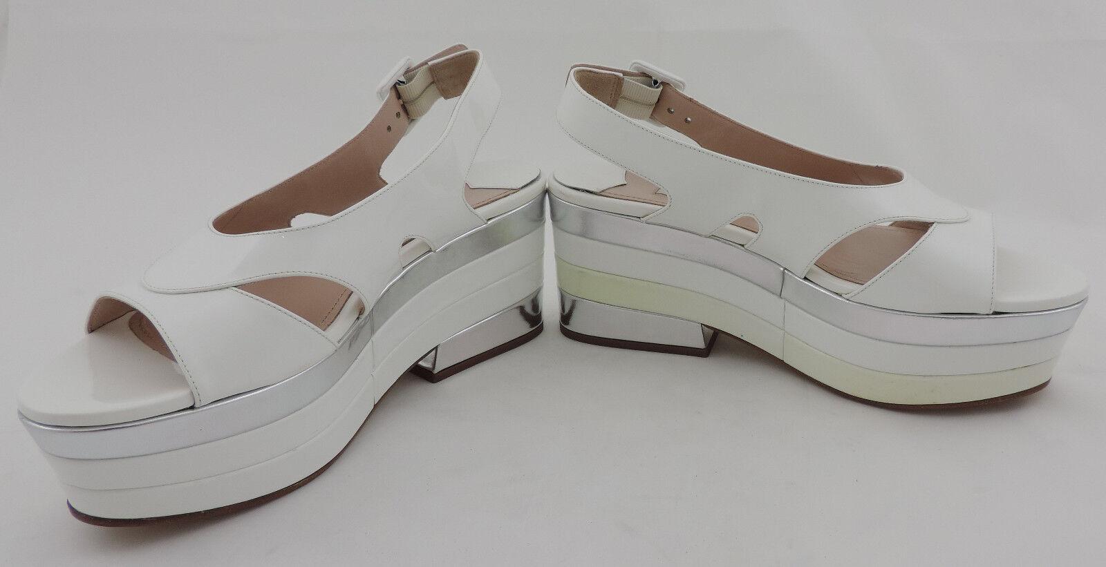 MIU MIU by VERNICE Prada sandali 36 PLATEAU BIANCO VERNICE by Larne sandals High heeels NUOVO 9abfd4