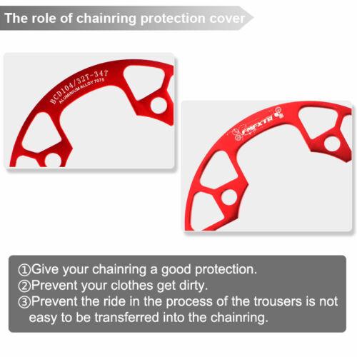 32//34//36//38//40//42T MTB Bike BCD104 Crankset Chainring Chain Guard Protect Cover