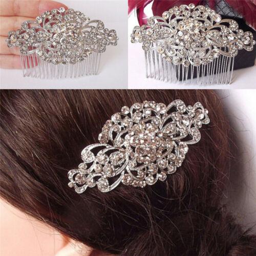 Vintage Wedding Crystal Hair Comb Bridal Tiara Bride Hair Piece Accessories Lp
