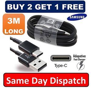 3-M-Original-Samsung-S8-S9-Type-C-cable-USB-C-Rapide-Chargeur-Veritable-Donnees-Sync-plomb