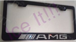 Image Is Loading Mercedes Benz AMG 3D Bling License Plate Frame
