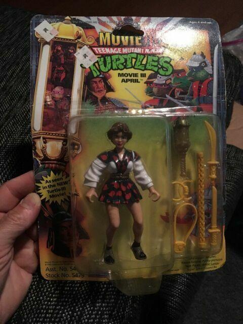 Playmates Toys Teenage Mutant Ninja Turtles Movie 3 April Card