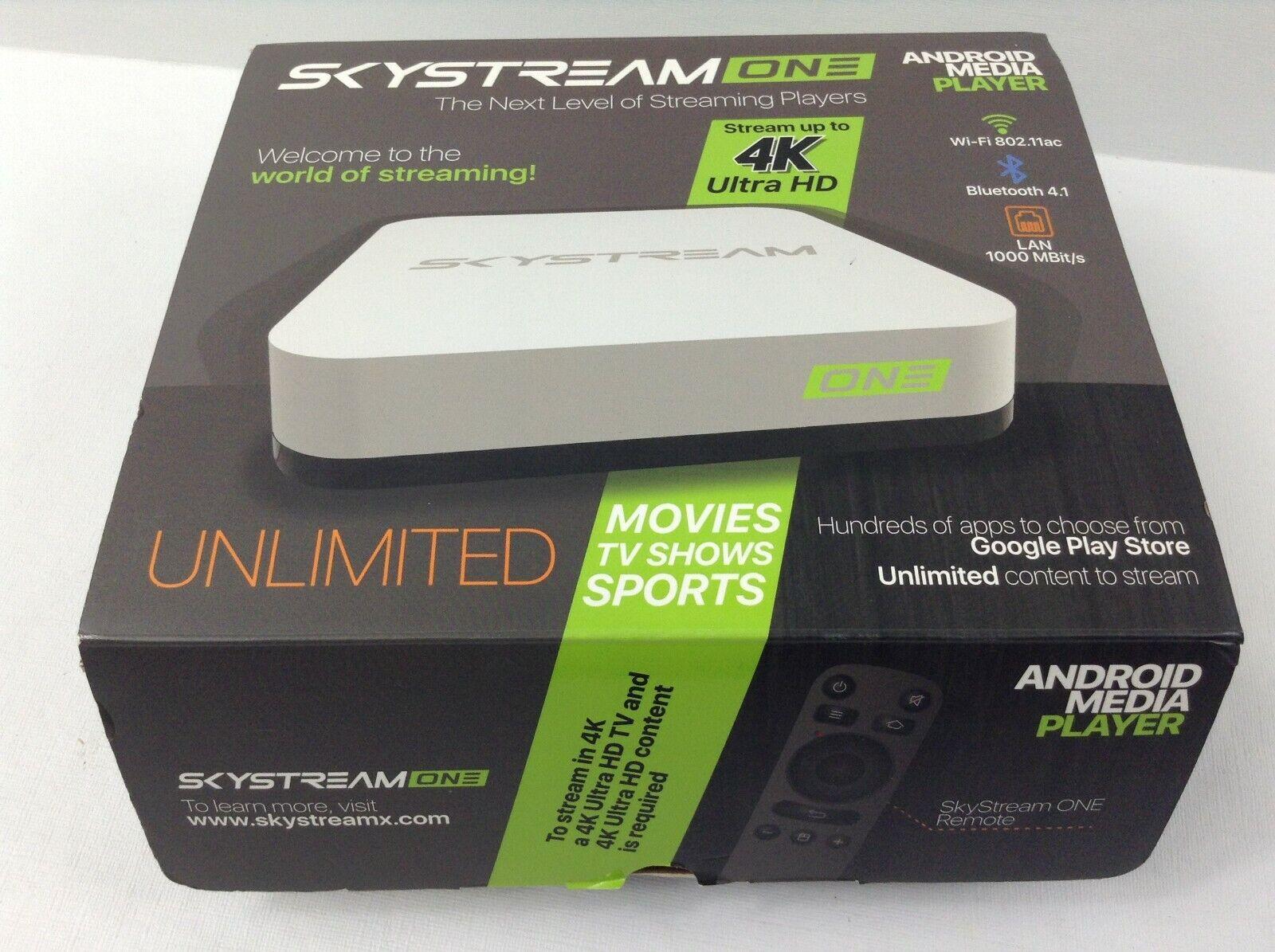 SkyStream - ONE Streaming Media Player - White media one player skystream streaming white