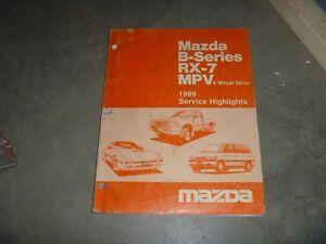 1989 Mazda B2200 B2600i Pickup Truck Shop Service ...