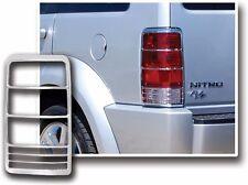 Triple Chrome Plated Tail Light Trim Bezel lamp Cover for 07-11 Dodge Nitro SUV