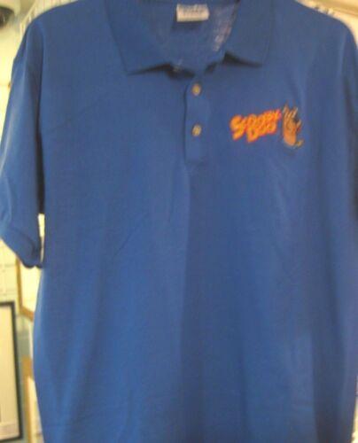 Scooby-Doo Polo Shirt Royal Blue Gildan Short Sleeve Cartoon Character Adult Med