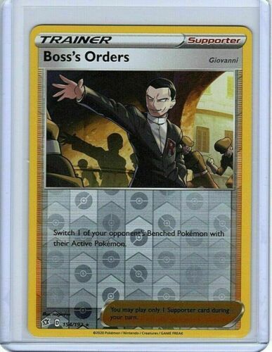 Reverse Holo Rare Pokemon NM Boss/'s Orders Rebel Clash 154//192