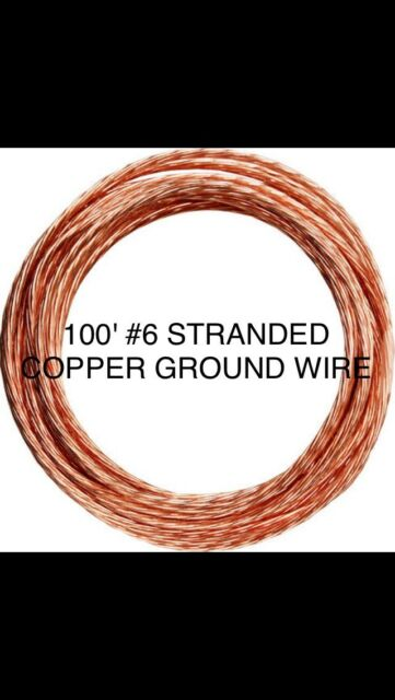 25-Ft Roll 6-AWG Gauge Electrical Solid Soft Drawn Ground Bare Pure Copper Wire