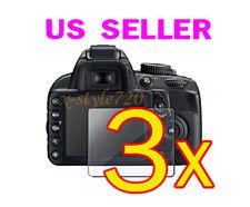 3x Nikon Digital SLR D5100 Clear LCD Screen Protector Cover Guard Shield Film