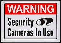 Large Metal Home Surveillance Store Security Spy Camera System Warning Yard Sign