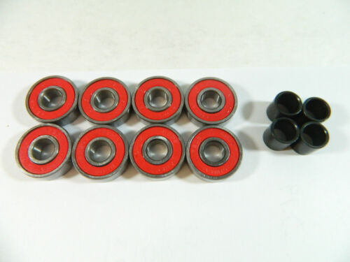 ABEC 7 Bearings Spacers Blank Pro 83mm Longboard Green Flywheels