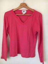 Afibel Pink Cotton Long Sleeve Size 12 Top  T9032