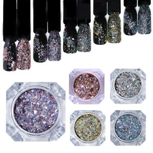 BORN-PRETTY-Holo-Nail-Flakes-Sequins-Holographicss-Glitter-Powder-Dust-Paillette