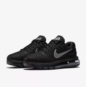 Nike Airmax Men's Running shoes Triple Black 849559-004 Air Max 2017 Size 10