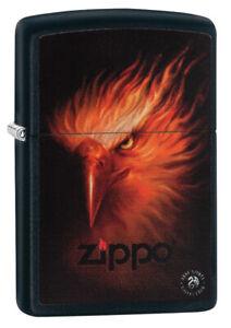 Zippo-Accendino-Firebird-Anne-Stokes-Collezione-Black-Opaco-Uccello-Logo-Nuovo