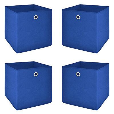 Faltbox Flori 1 Korb Regal Aufbewahrungsbox in blau 4er Set