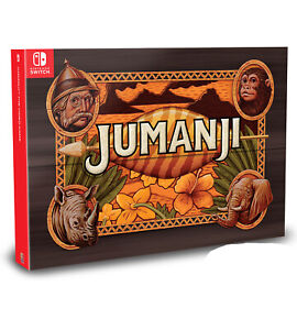 JUMANJI-The-Video-Game-Collector-039-s-Edition-Nintendo-Switch-W-Rare-Box-amp-Figures