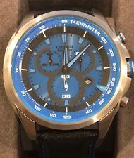 New Citizen GN-4W-S Eco-Drive Men's Blue Face Chronograph Watch