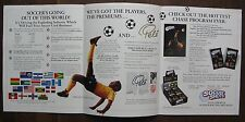 Soccer Shots Trading Cards Sell Sheet (no cards) PELE circa 1993/1994
