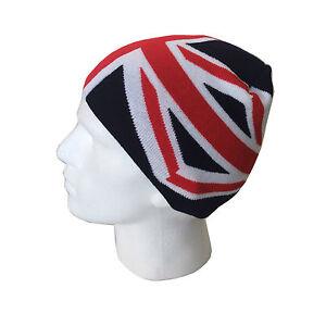 Women s Men s Beanie Hats Union Jack British Flag Design Knitted ... afd74986dd8