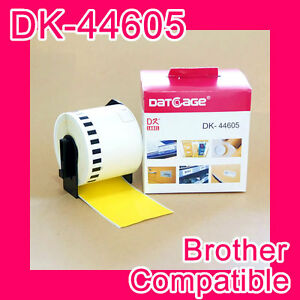 20-rolls-of-Compatible-Brother-DK-44605-Yellow-Continious-Removable-Paper-Tape
