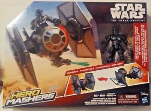 Years Star Wars The Force Awakens Hero Mashers Toy Tie Fighter /& Pilot 4