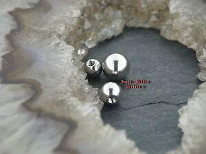 Haben Sie Einen Fragenden Verstand Piercing Schraubkugel 1,6mm Gewinde Verschiedene Durchmesser Seien Sie In Geldangelegenheiten Schlau