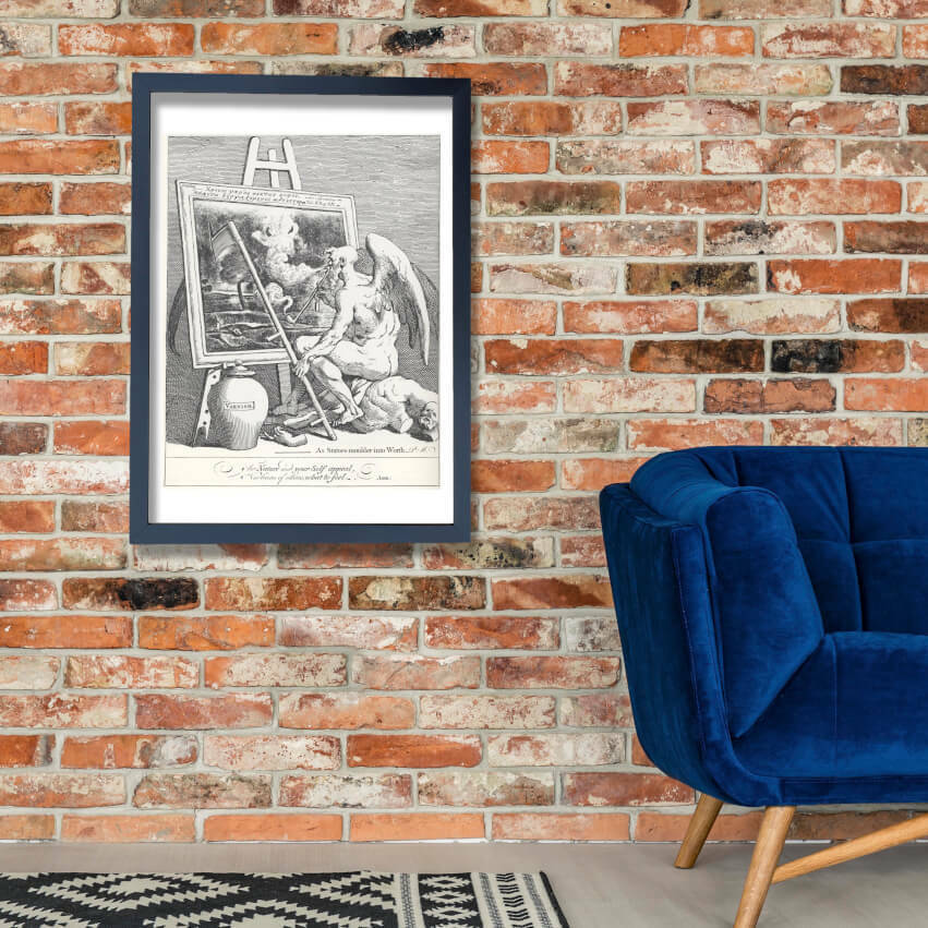 William HogKunsth - Time smoKönig a Bild Wand Kunst Poster Drucken