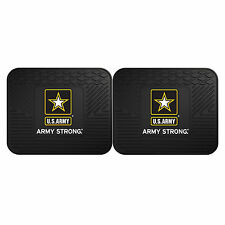 "US Army Strong Logo Car SUV RV Backseat Mats 14"" x 17"" HD 3D Molded Vinyl 2pc"