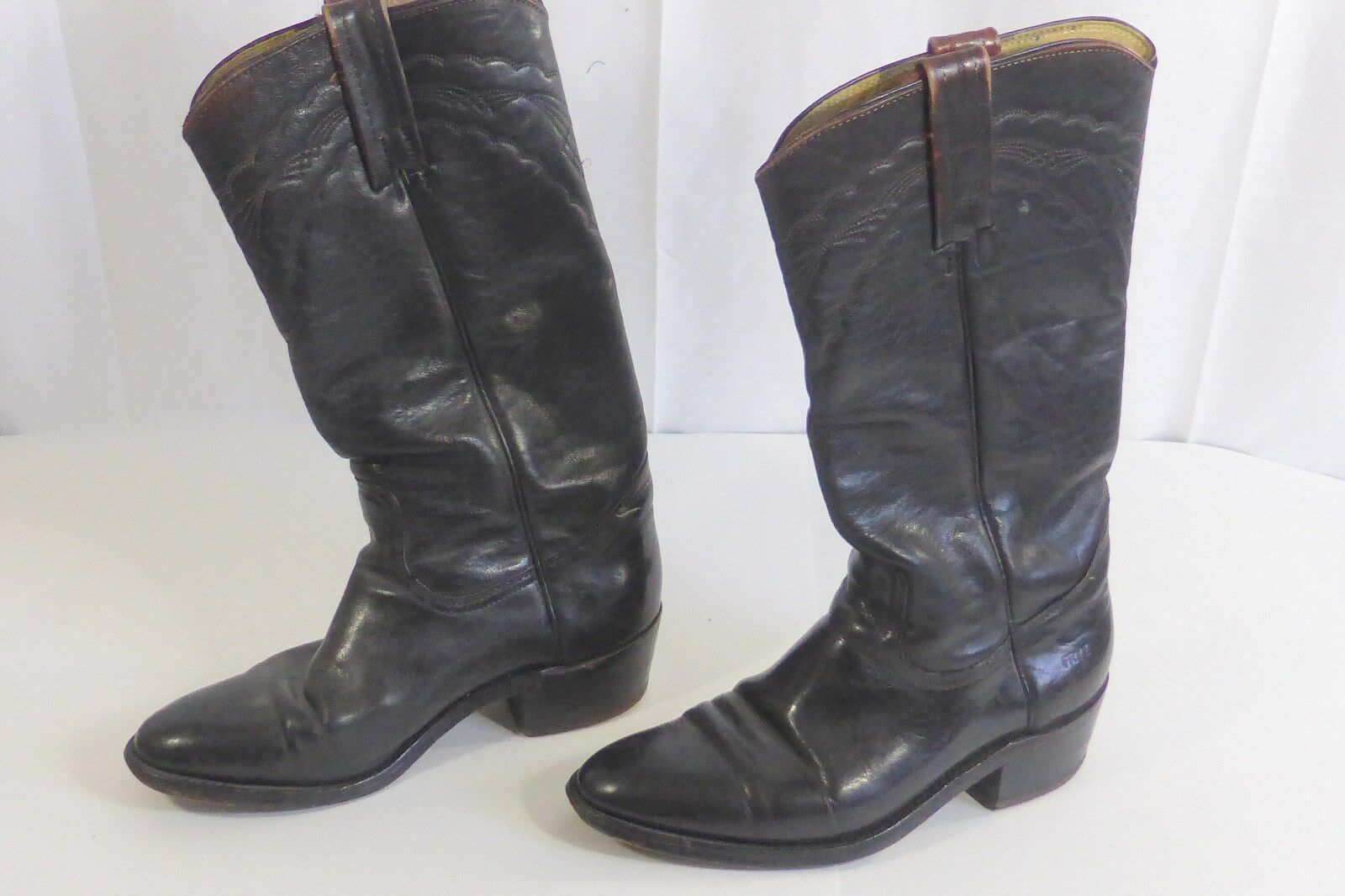 Frye  Western Boots Size 8 1 2 Dark Brown Cowboy Boots Pre-Owned