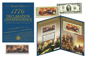 Declaration-of-Independence-240th-Anniv-Historic-Currency-amp-1976-Stamp-Set