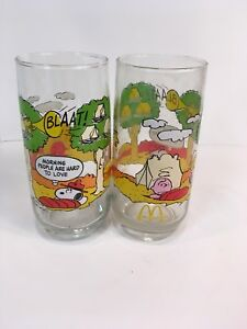 Camp Snoopy Peanuts Collection By Schultz Drinking Glass-McDonalds