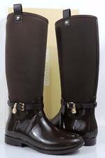 Women's Shoes Michael Kors CHARM STRETCH RAINBOOT Rubber /Neoprene Brown Size 10