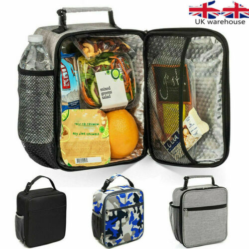 Adult Kids oxford Insulated Lunch Bag Coolbag Work Picnic Food Storage Lunchbox