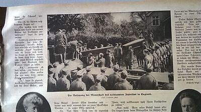 1916 81 Zeppelin In England Abgeschossen Beerdigung Neue Sorten Werden Nacheinander Vorgestellt
