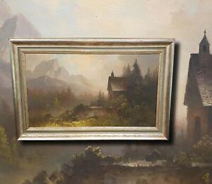 OSKAR-MULLEY-1891-Landschaft-aus-Garmisch-Original-Olgemaelde-Geldanlage