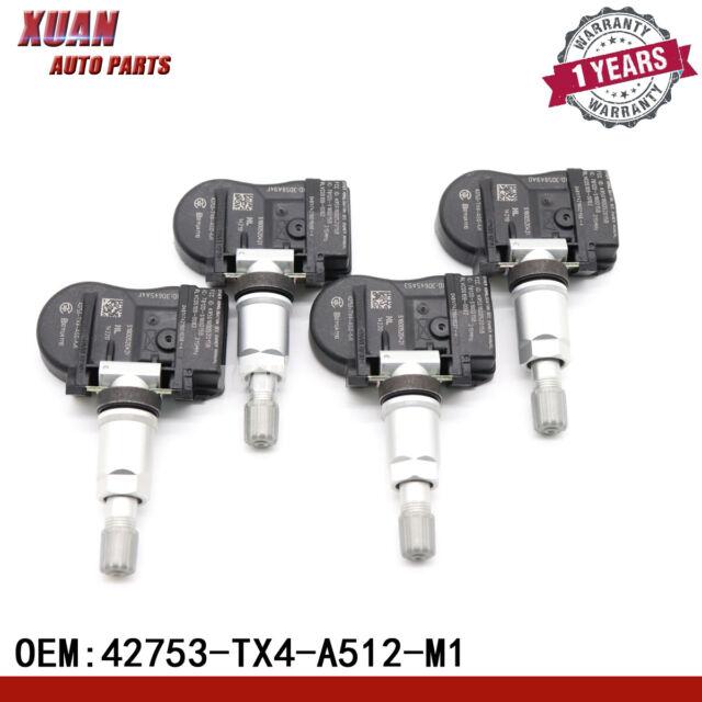 4pcs 42753-tx4-a512-m1 Tire Pressure Sensor TPMS For Acura