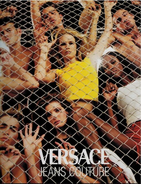 1999 VERSACE  Claudia Schiffer , Naomi Campbell & Stephanie Seymour   Print Ad