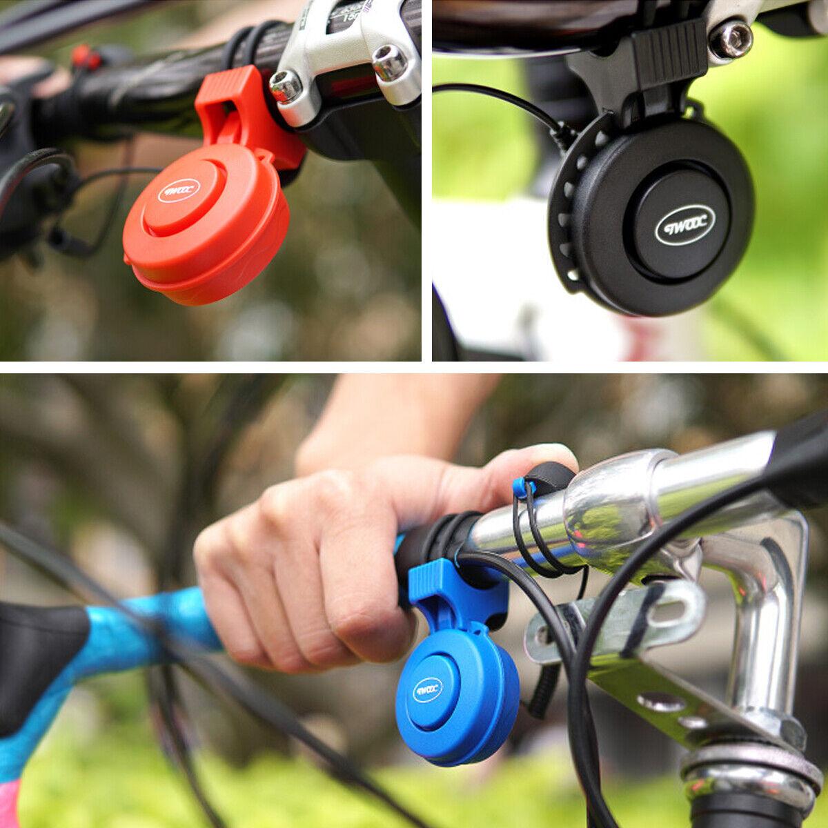 Bicycle Bike Handlebar Bell Ring Mini Black Aluminum Bike Horn