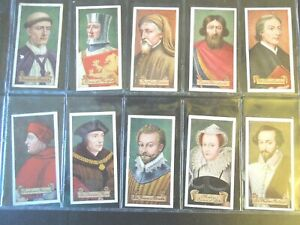 1935-Carreras-CELEBRITIES-OF-BRITISH-HISTORY-set-50-Tobacco-Cigarette-cards