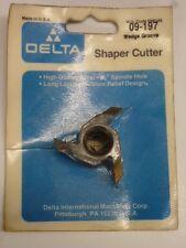NOS! DELTA SHAPER CUTTER, WEDGE GROOVE, #09-197