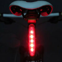 2016 Cycling Bicycle Super Bright Red 5 LED Rear Tail Light Bike Lamp 8 modes