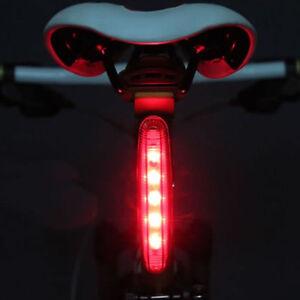 2016 cyclisme v lo rouge tr s vif 5 del feu arri re v lo lampe 8 modes ebay. Black Bedroom Furniture Sets. Home Design Ideas