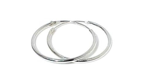925 Sterling Silver Hoop Sleeper Earrings6mm Large 28mm Small