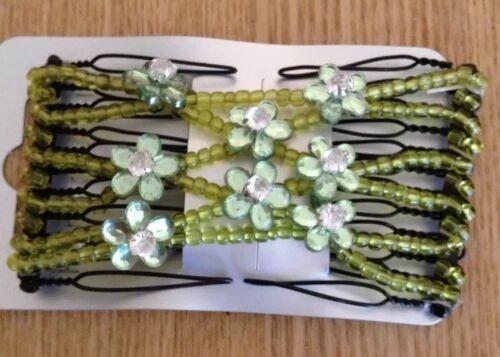 A Pretty Green EZE Type Double Diamanté Hair Comb