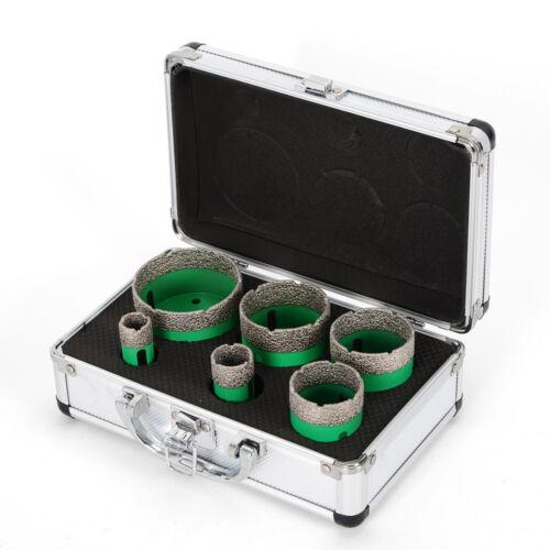 6PCS Pieces Diamant Hole Saw Lochsäge BOX Set M14 drill bits 20//25//42//50//55//68MM